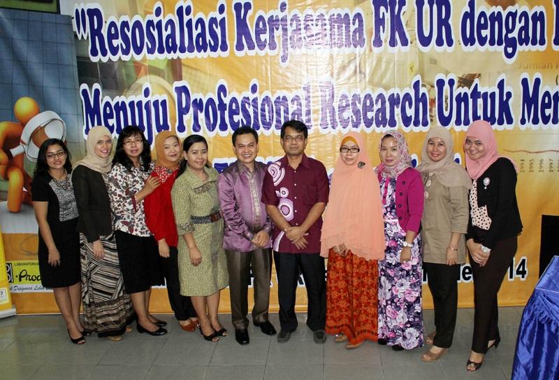 Resosialisasi kerjasama FK UR dengan Prodia menuju Profesional Research untuk mencapai  FK UR Terakreditasi A