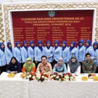 Yudisium Sarjana Kedokteran Ke-51 Fakultas Kedokteran Universitas Riau