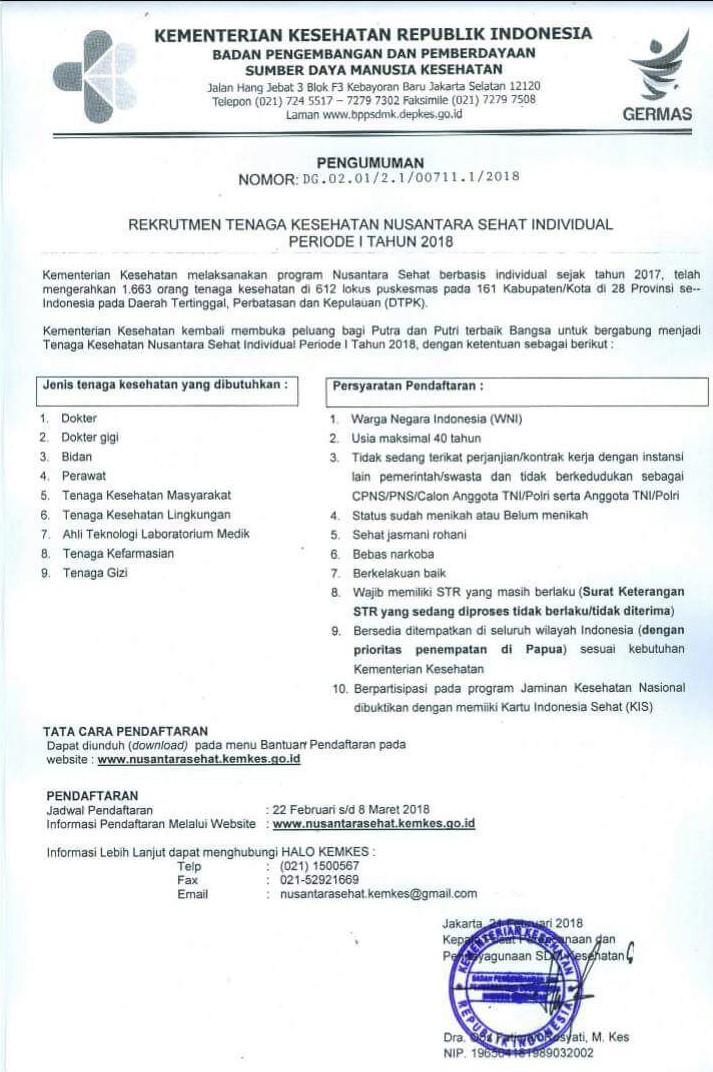 Lowongan Kerja Kementerian Kesehatan Republik Indonesia Fakultas Kedokteran Universitas Riau