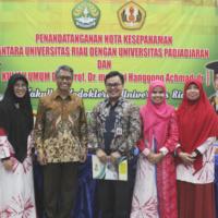 Penandatanganan Nota Kesepahaman Antara  Universitas Riau dengan Universitas Padjajaran di Fakultas Kedokteran Universitas Riau