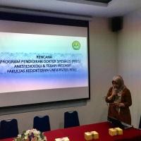Visitasi KKI Dalam Rangka Pembukaan Program Studi Pendidikan Dokter Spesialis Anestesiologi dan Terapi Intensif FK UNRI