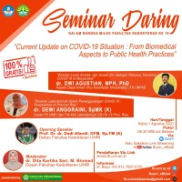 """Seminar Daring """"Current Update on COVID-19 Situation: from Biomedical Aspects to Public Health Practices"""""""