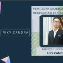Riky Candra Terpilih Sebagai Mahasiswa Berprestasi FK Unri Tahun 2021