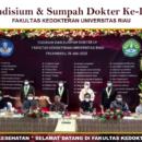 Yudisium & Sumpah Dokter Ke-LV Fakultas Kedokteran Universitas Riau
